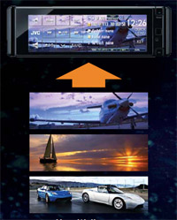 jvc kd avx77 el kameleon dvd cd usb receiver. Black Bedroom Furniture Sets. Home Design Ideas