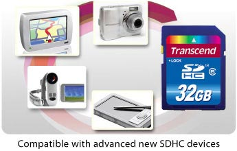 Compatible with advanced new SDHC devices