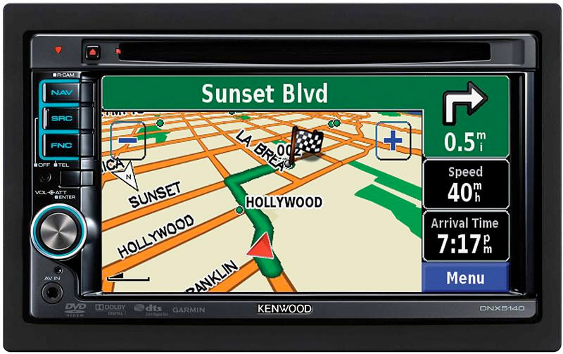 kenwood dnx5140 6 1 inch wide double din in dash nagivation with usb ipod direct. Black Bedroom Furniture Sets. Home Design Ideas