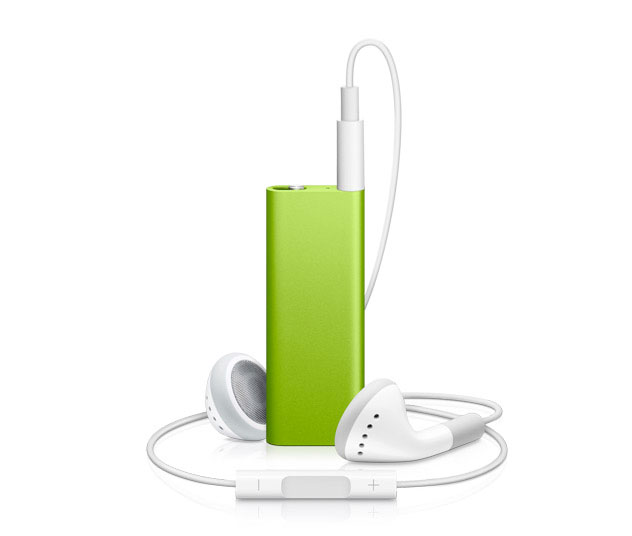 Clip a 4 GB iPod shuffle to your sleeve, running shorts