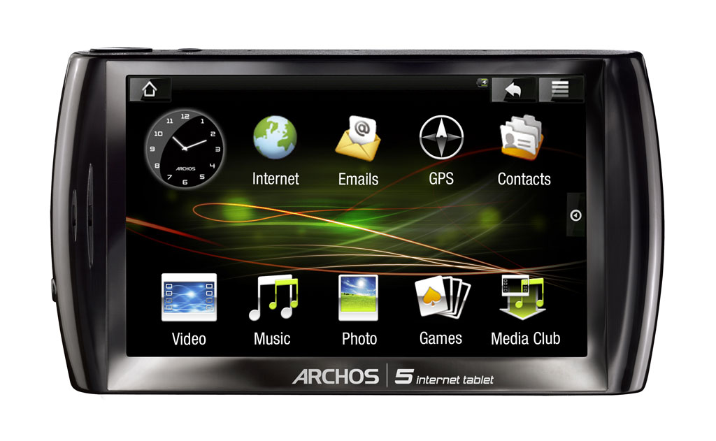 amazon com archos 5 16gb internet tablet with android black home rh amazon com Archos 5 Android 4 8 Archos 5 Internet Tablet Touch Screen