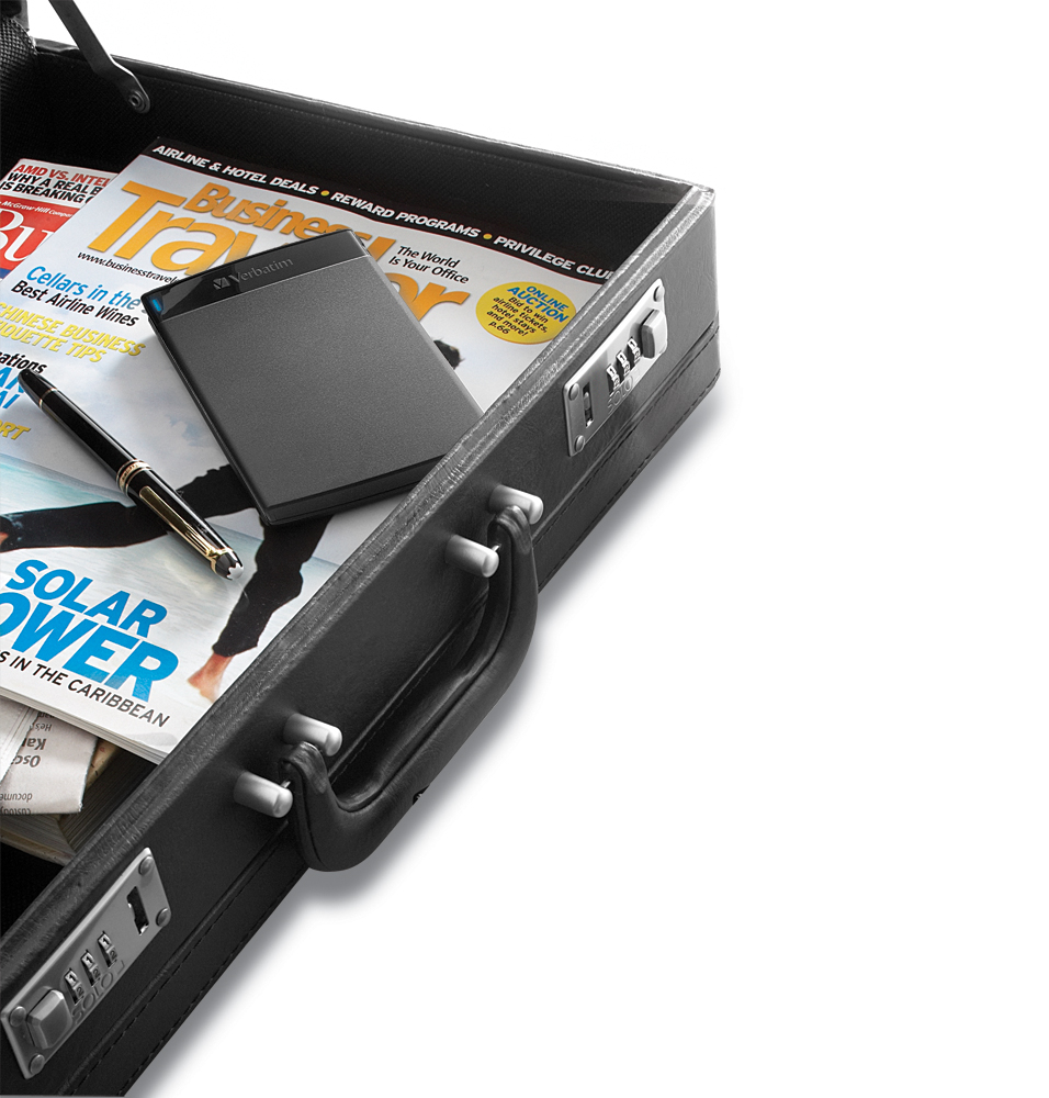 how to open verbatim portable hard drive