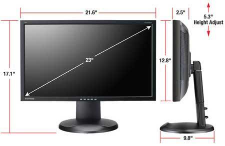 amazoncom viewsonic vp2365wb 23inch ips lcd monitor
