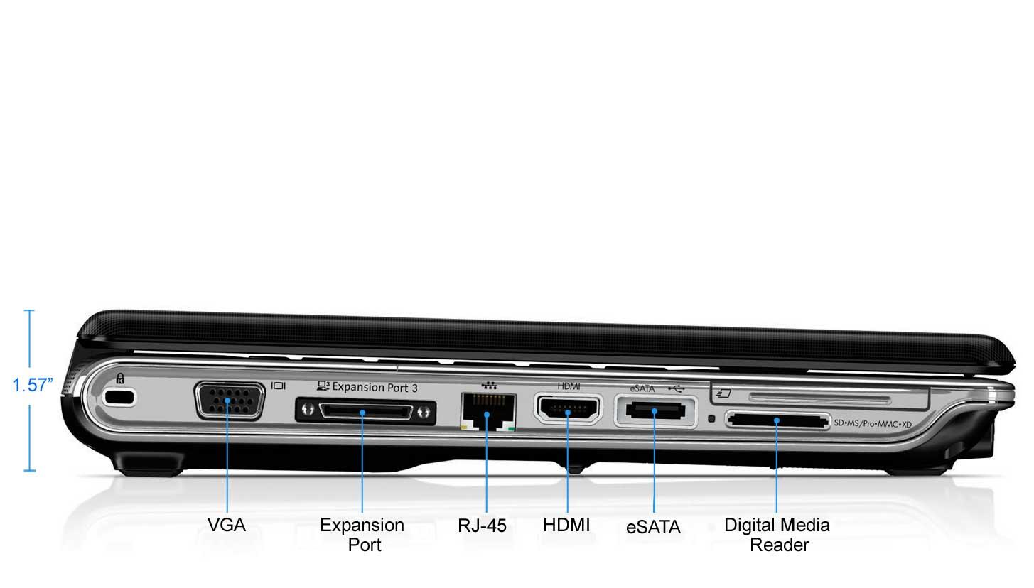 HP Pavilion dv4-2161nr Laptop PC Right Side. Enlarge