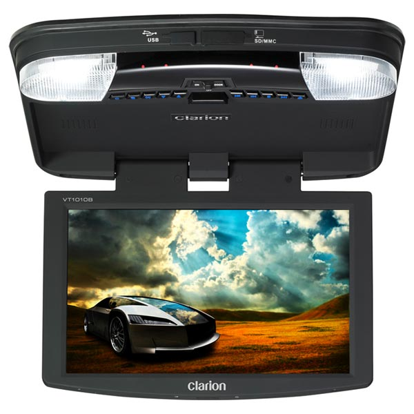 amazon com clarion vt1010b 10 2 inch digital tft lcd widescreen rh amazon com Overhead Car DVD Player Ford Overhead DVD Player