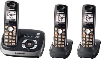 Panasonic KX-TG6533B DECT 6 0 PLUS Expandable Digital Cordless Phone (Black)