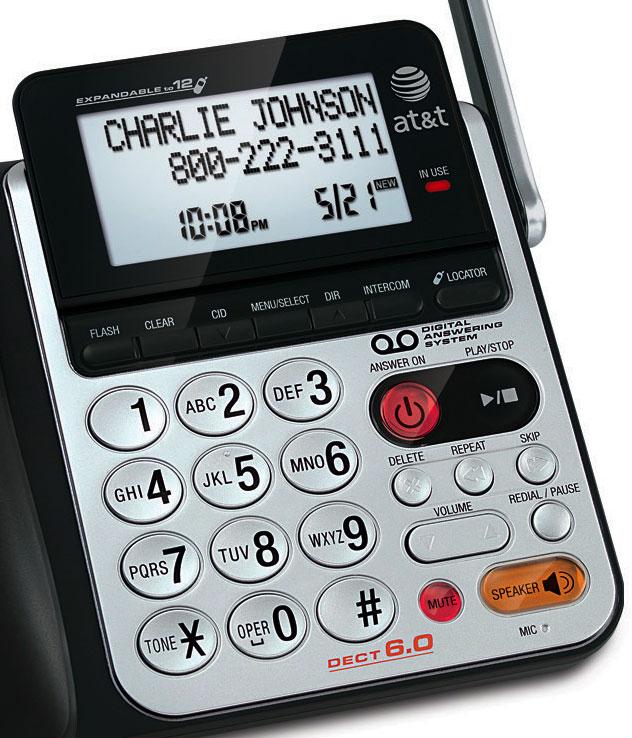 amazon com at t 84100 dect 6 0 corded cordless phone black silver rh amazon com Cordless Phones without Answering Machine Cordless Phones without Answering Machine