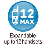 expandable up to 12 handsets