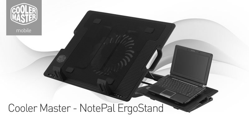 ce34ae9208d ErgoStand can be used as a notebook stand and or cooling pad. The adjustable  anti-skid holders are compatible for 9