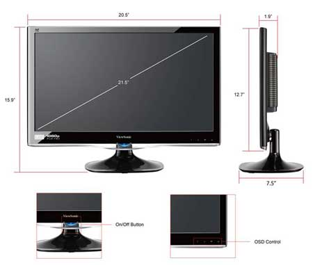 monitor size how to find