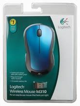 Logitech Wireless Mouse M310 Peacock Blue
