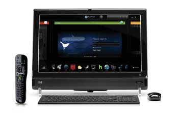HP TouchSmart 600-1350 PC Front View