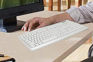 microsoft wired keyboard 200 for business white electronics. Black Bedroom Furniture Sets. Home Design Ideas