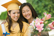 Mother and daughter graduation Photo