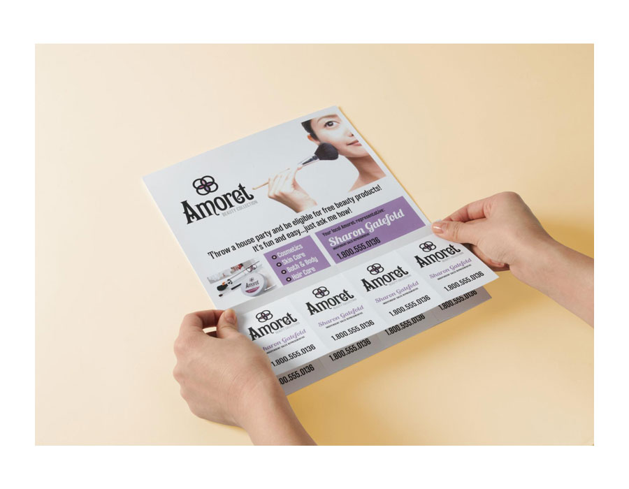 Avery Door Hanger With Tear Away Cards Matte White 4 25