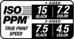 ISO PPM True Print Speed