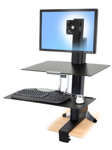 electric high desk com standing up workstation voicesofimani attachment stand adjustable