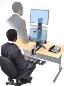 Amazon Com Ergotron Workfit S Single Hd Workstation With
