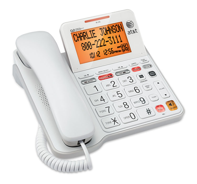 Amazon.com: AT&T CL4940 Corded Phone with Answering System ...
