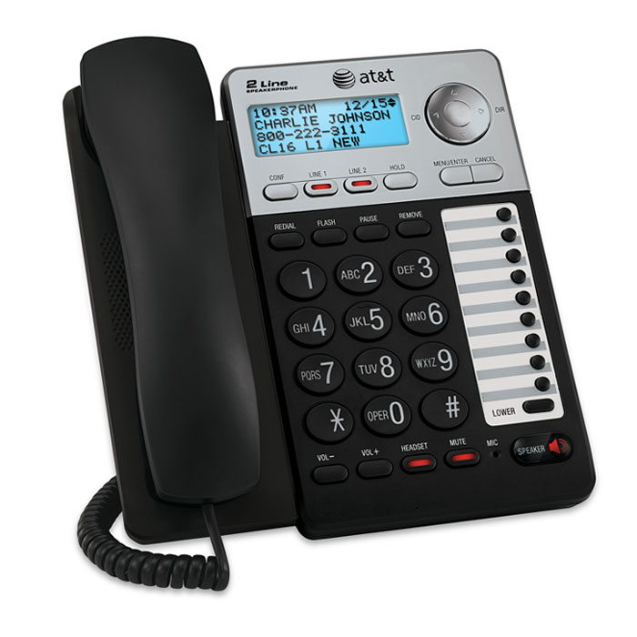 Amazon.com : AT&T ML17929 2-Line Corded Office Phone System with ...