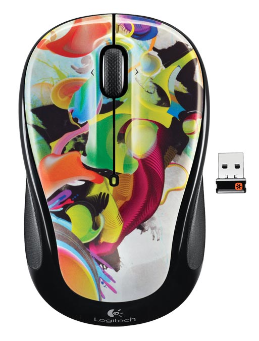 Logitech Wireless Mouse M With Designed For Web Scrolling Liquid Color