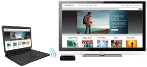 Wirelessly display your laptop screen on TV