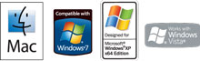 Mac and Windows Software Badges