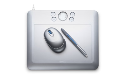 wacom bamboo fun medium silver tablet with pen mouse graphics software. Black Bedroom Furniture Sets. Home Design Ideas