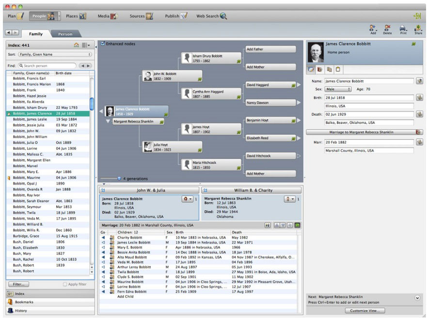 Mac Genealogy & Family Tree Software