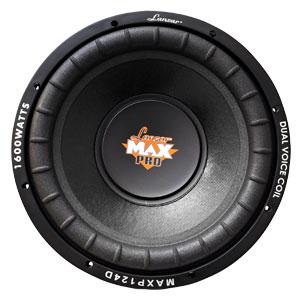 Lanzar Max Serie altavoz Subwoofer 30,5 cm dobles con 4 ohm 1000W Negro