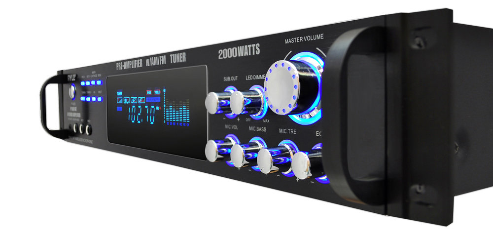 Amazon Com  Pyle P2001at 2000w Hybrid Pre Amplifier With Am  Fm Tuner  Musical Instruments