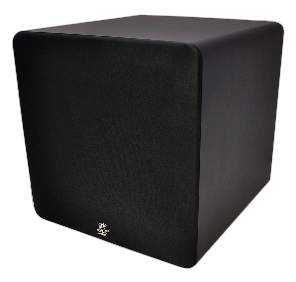 pyle home pdsb15a 15 inch 250 watt active powered subwoofer for home theater home. Black Bedroom Furniture Sets. Home Design Ideas