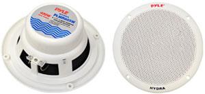 """2 Speakers Included: 6.5"""" Dual Cone Marine Speakers"""