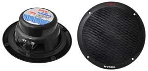 """4 Speakers Included: 6.5"""" Dual Cone Marine Speakers"""