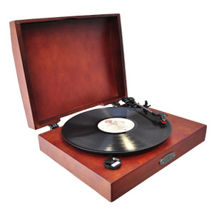 The Pyle PVNTT1T Classic Retro USB-To-PC Phonograph