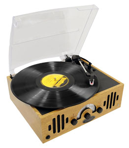 The Pyle PVNTTR22 Retro Belt-Drive Turntable