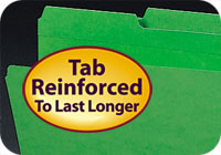 Reinforced 2-Ply Tabs, extra strength and durability