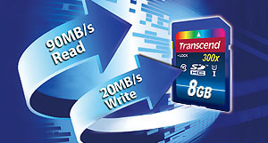 transcend read and write speeds