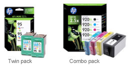 Twin pack of HP ink & Combo pack of HP ink