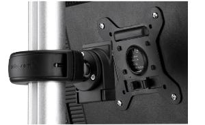 Quick Release mechanism for easy display attachment/removal with a security feature