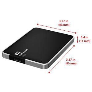 WD My Passport Edge for Mac 500GB Portable USB 3 0 External Hard Drive  Storage (WDBJBH5000ABK-NESN)