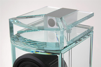 The glass horn tweeter makes music come alive