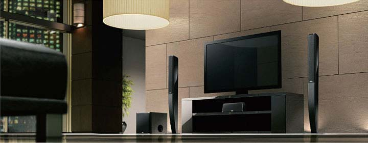 5.1 Channel Speaker System Compatible with HD Audio Sources