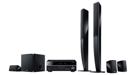 Yamaha yht699ubl durable 115w 5 1 channel usb for Yamaha 7 2 home theatre system