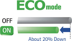 ECO Mode Lowers Power Consumption by 20 Percent*