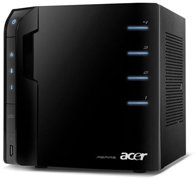 The Acer Aspire EasyStore AH340 home server offers a compact footprint
