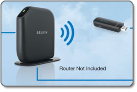 Belkin Play Wireless USB Adapter (F7D4101)