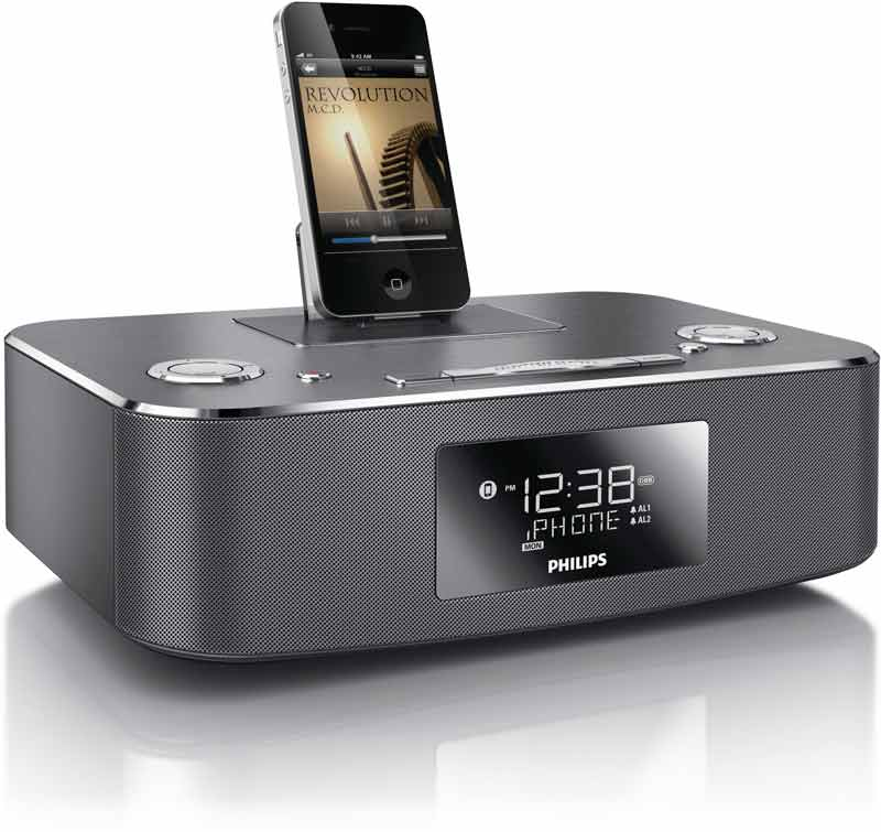 philips dc291 37 30 pin ipod iphone ipad alarm. Black Bedroom Furniture Sets. Home Design Ideas