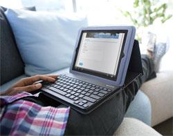 Belkin Keyboard Folio for iPad2 Lifestyle Shot
