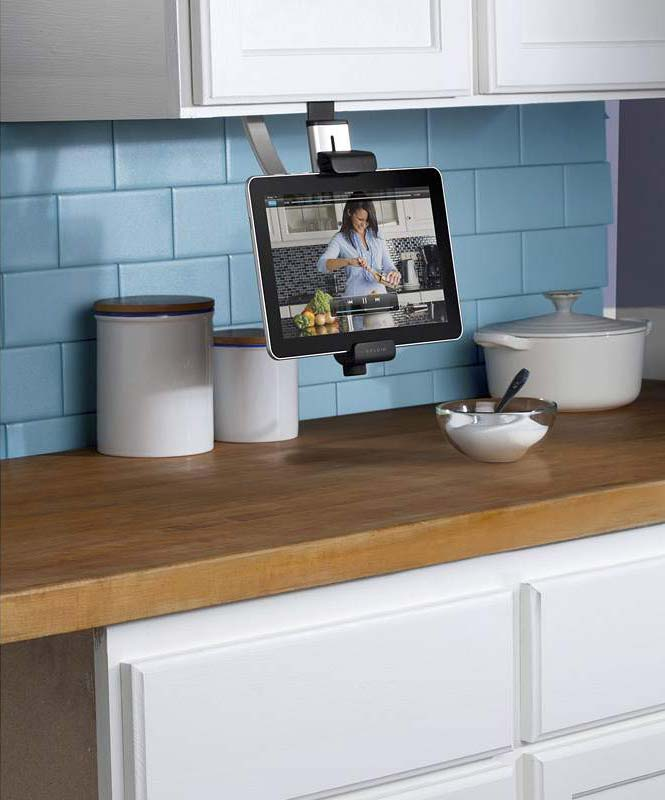 awesome Under Cabinet Mount Tv For Kitchen #3: Belkin Kitchen Cabinet Mount for Tablets Product Shot